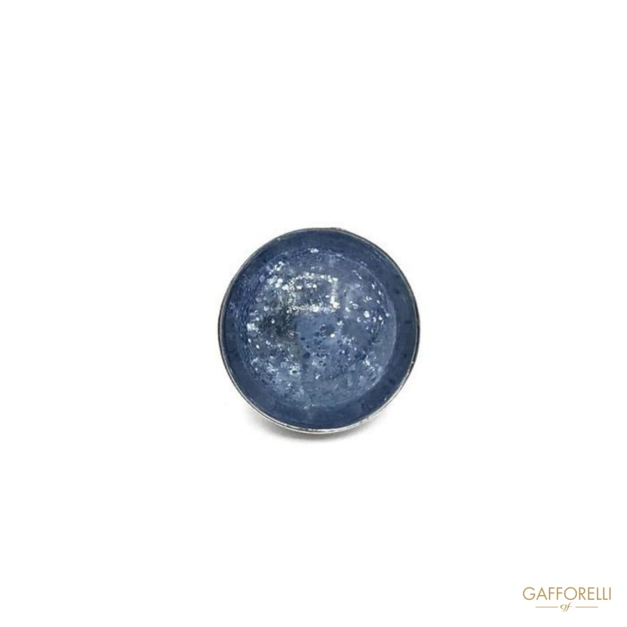 Glitter Polyester Button with Metal Base - Art. D206