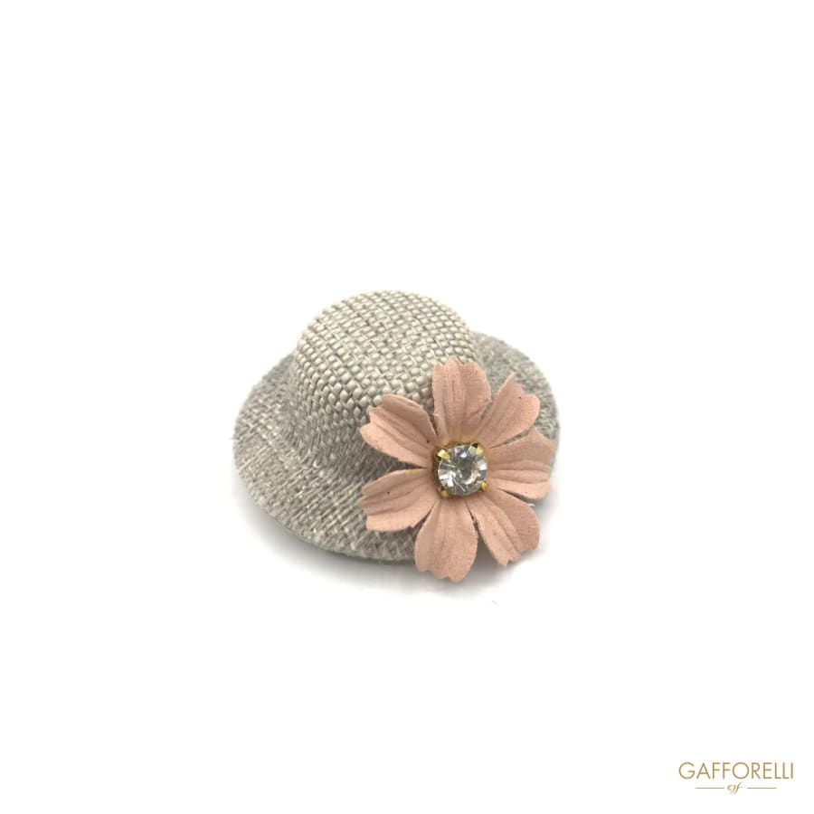 Hat-shaped Brooch with Flower detail - Art. H186 brooches