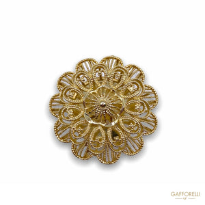 Imperial Button in the Shape of an Openwork Flower B154 -