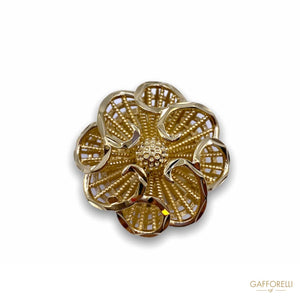 Imperial Button in the Shape of an Openwork Flower B155 -