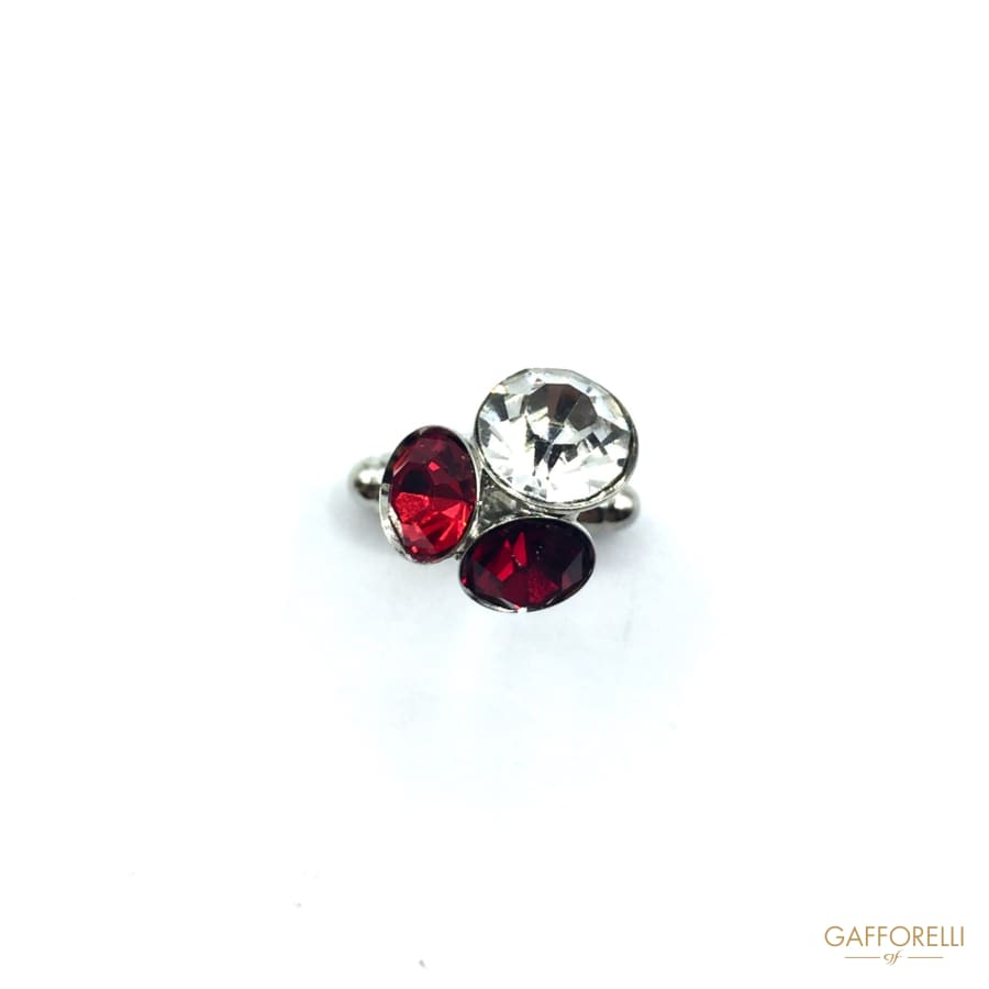 Liberty Style Cufflink with Rhinestones 1 Cm - Art. 26 U-gem