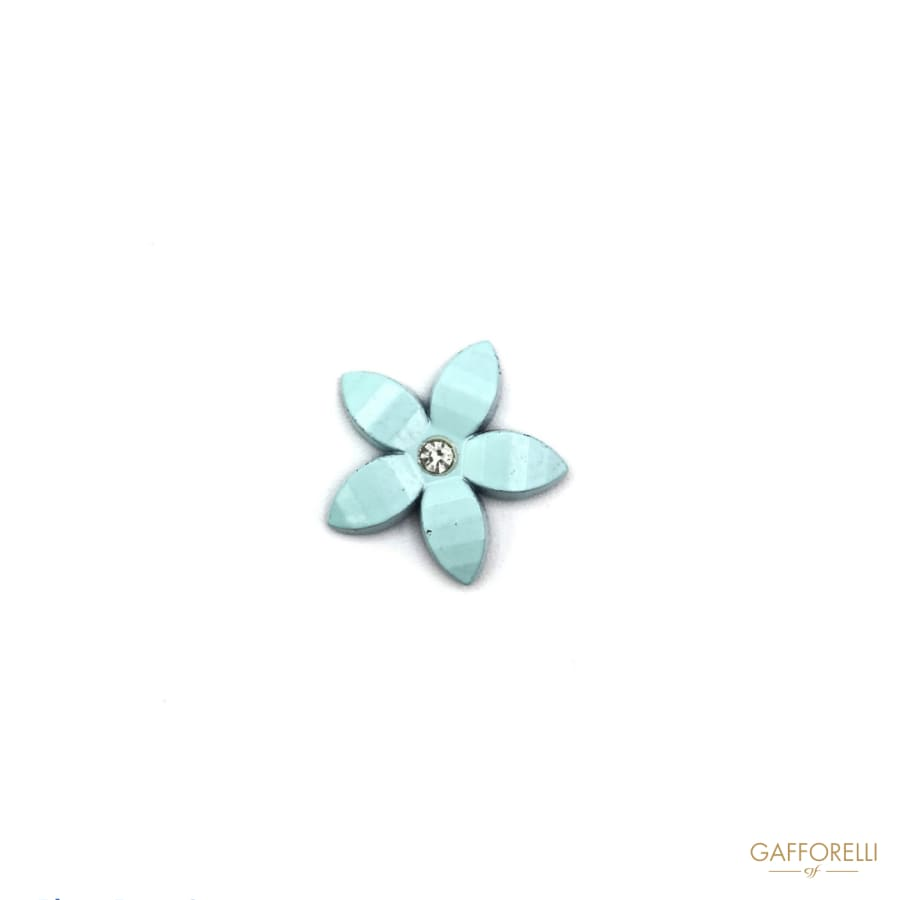 Light Blue Flower Hotfix with Rhinestones - Art. E105 hotfix