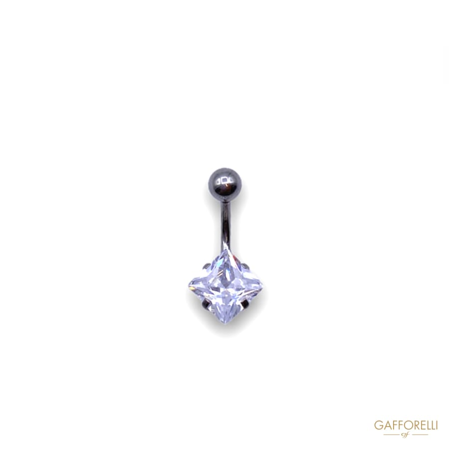 Micro Piercing with Sphere and Square Rhinestones U299-