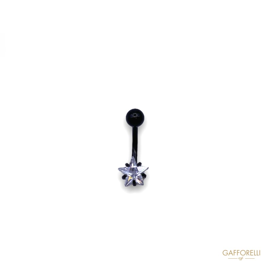 Piercing Painted with Rhinestone Star U297 - Gafforelli Srl