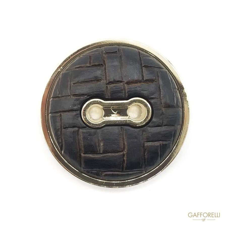Polyester Button with Leather Effect - Art. 6983 BUTTONS