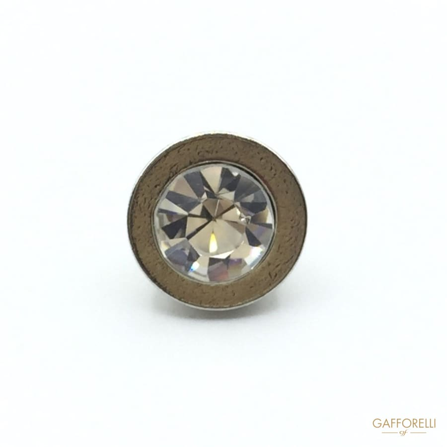Shank Buttons in Brass with Mirrored Rhinestone - Art. 9103