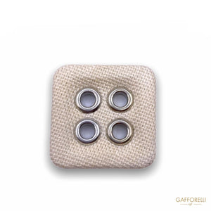 Square Button with Four Holes H289 - Gafforelli Srl CLASSIC
