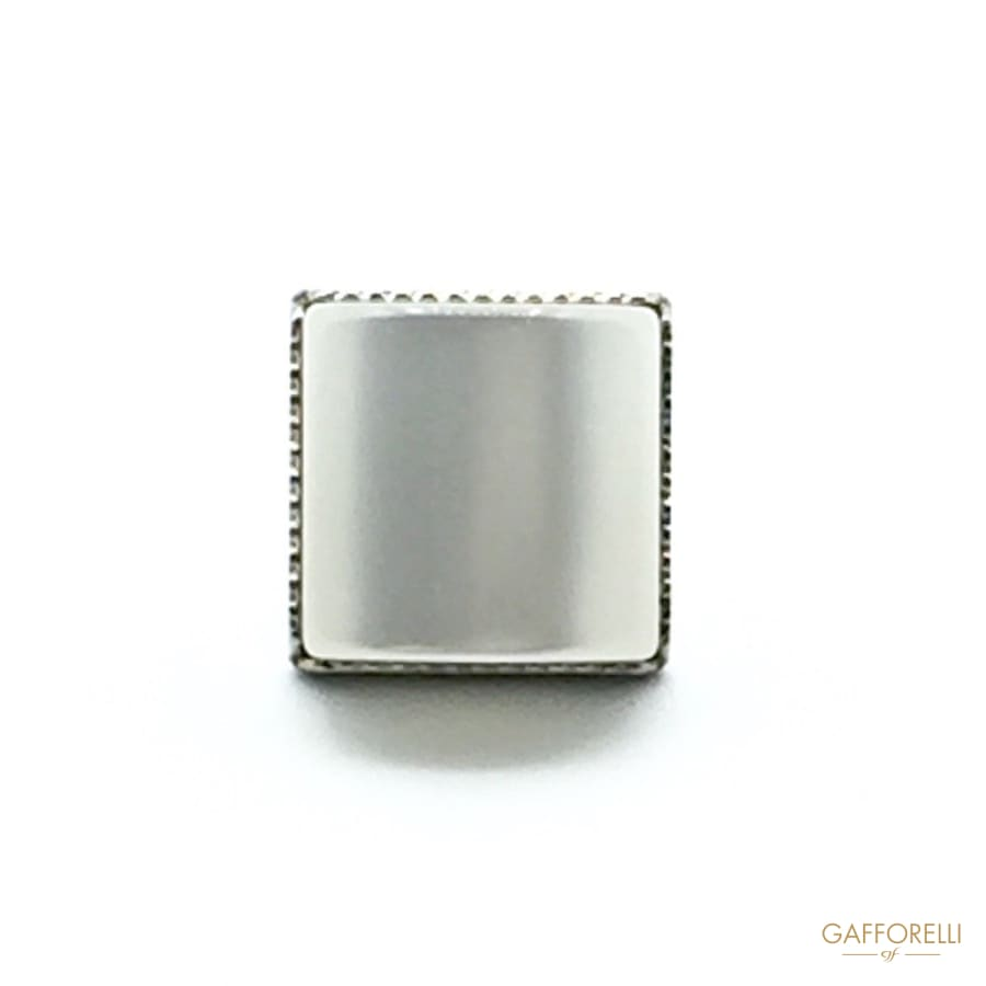 Square Buttons with Mother of Pearl Imitation - Art. 6186