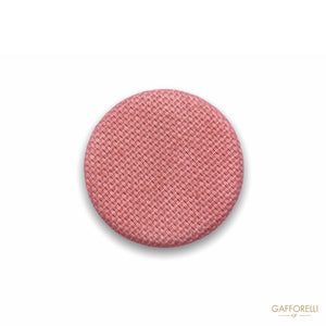 Tambourine Button Covered with Fabric H295 - Gafforelli Srl