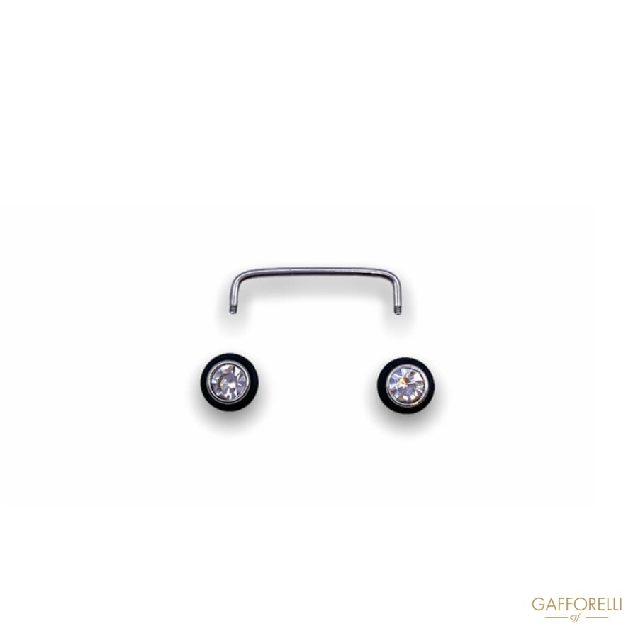Unscrewable Enamel Piercing with Strass U246 - Gafforelli