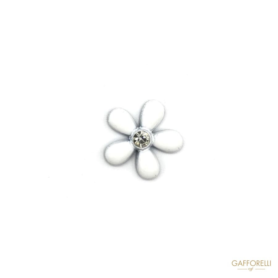 White Flower Hotfix with Rhinestone - Art. E101 hotfix