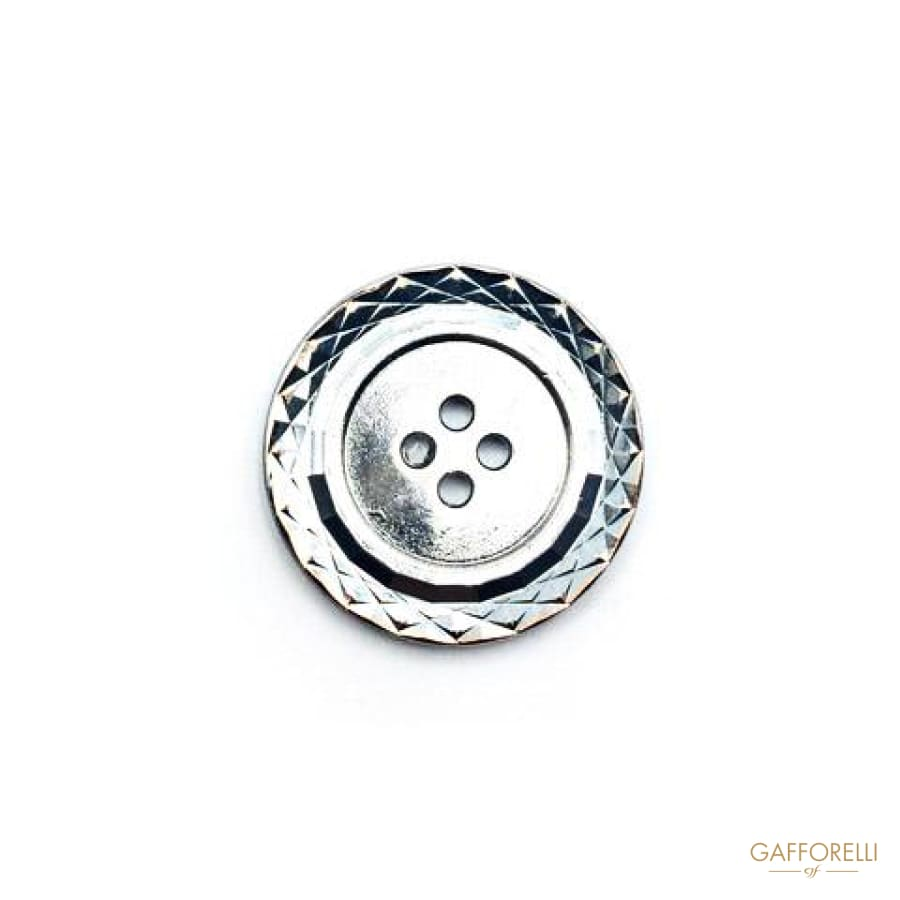Zamak Button with Diamond Effect - Art. 4853 BUTTONS STOCK •