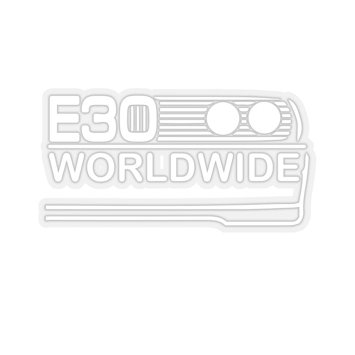E30 Worldwide Kiss Cut Sticker - ShopE30