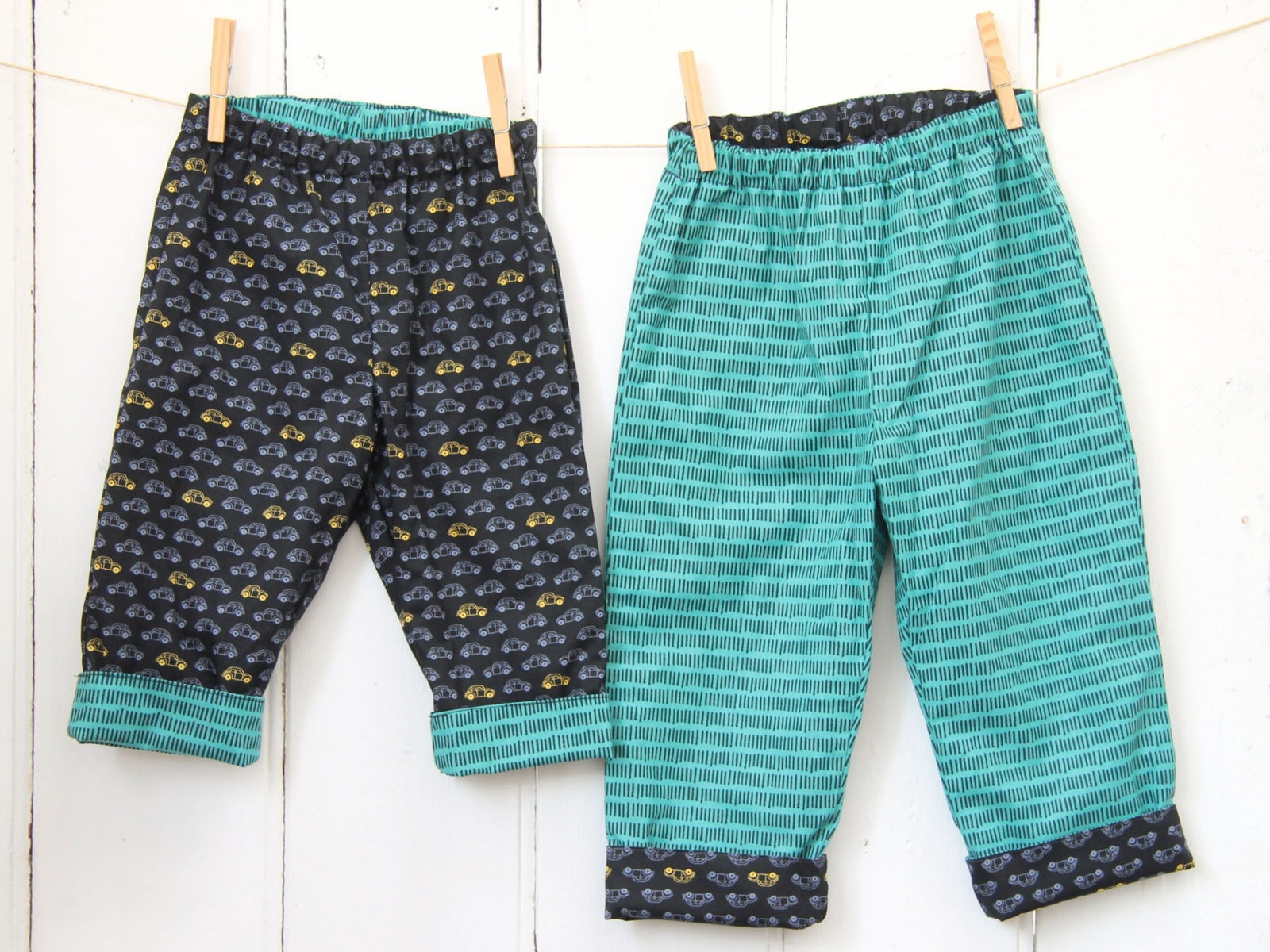 Black Cars Trousers - Trousers - Bobbi Handmade Children's Clothes