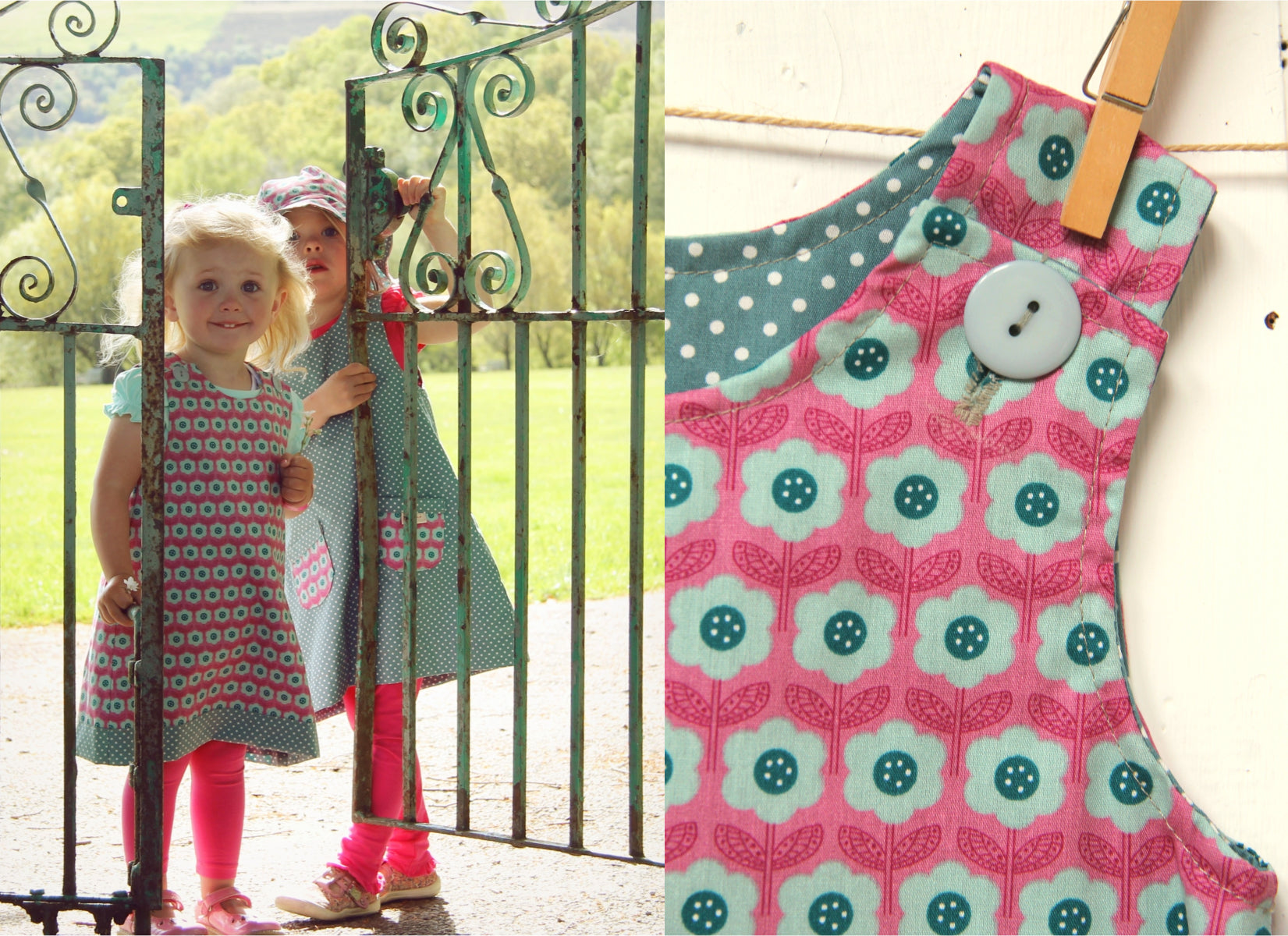 Pink Daisy Spot Dress - Dress - Bobbi Handmade Children's Clothes