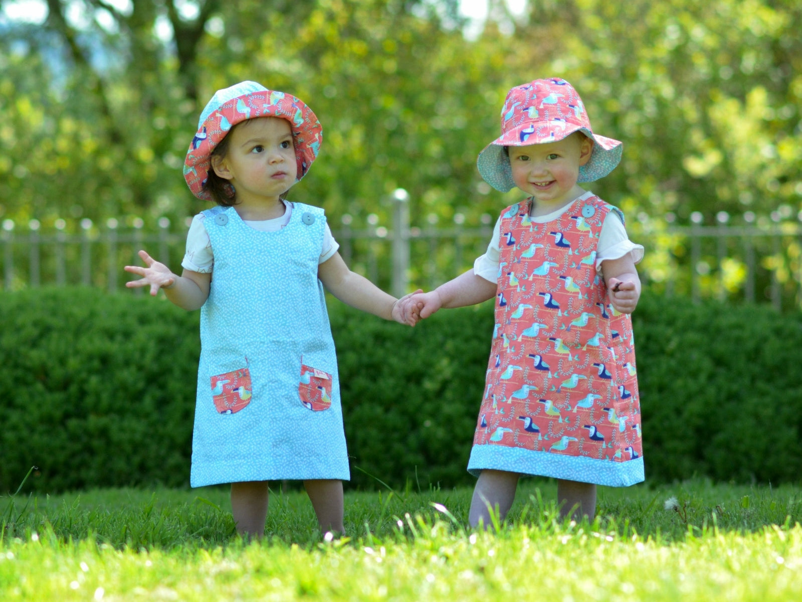 Turquoise Toucans Dress - Dress - Bobbi Handmade Children's Clothes