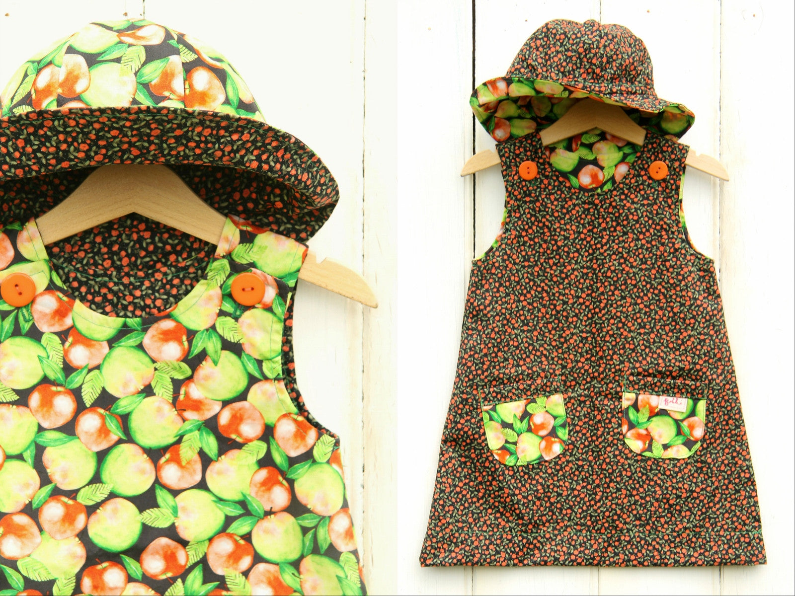 Apples Dress - Dress - Bobbi Handmade Children's Clothes