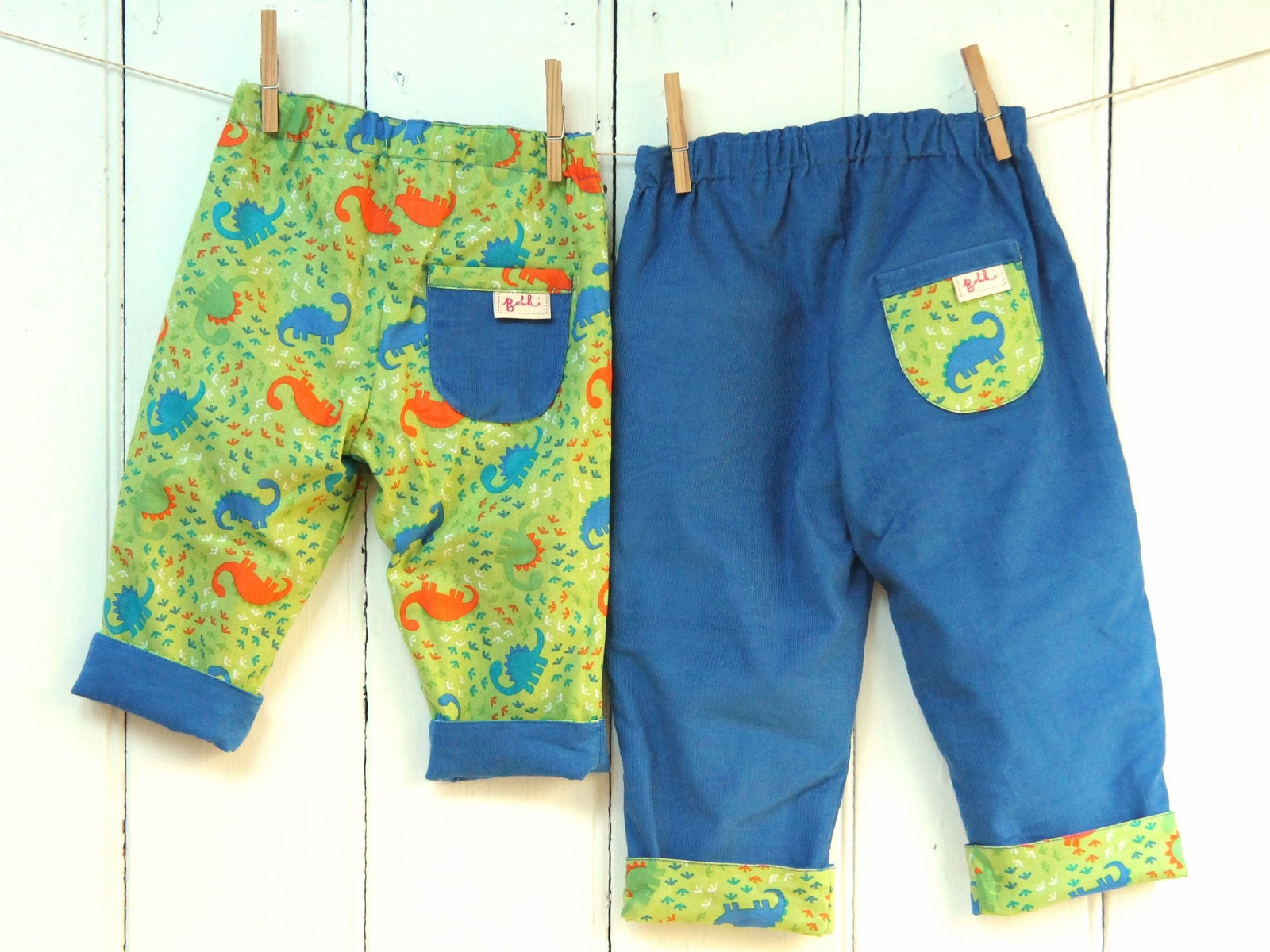 Dinos Blue Needlecord Trousers