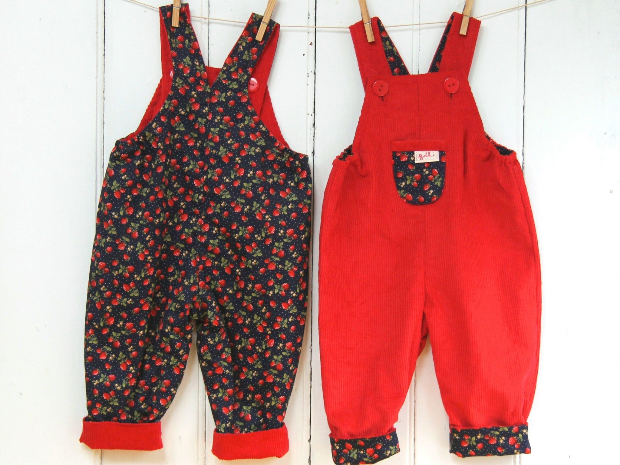Strawberry Cord Dungarees
