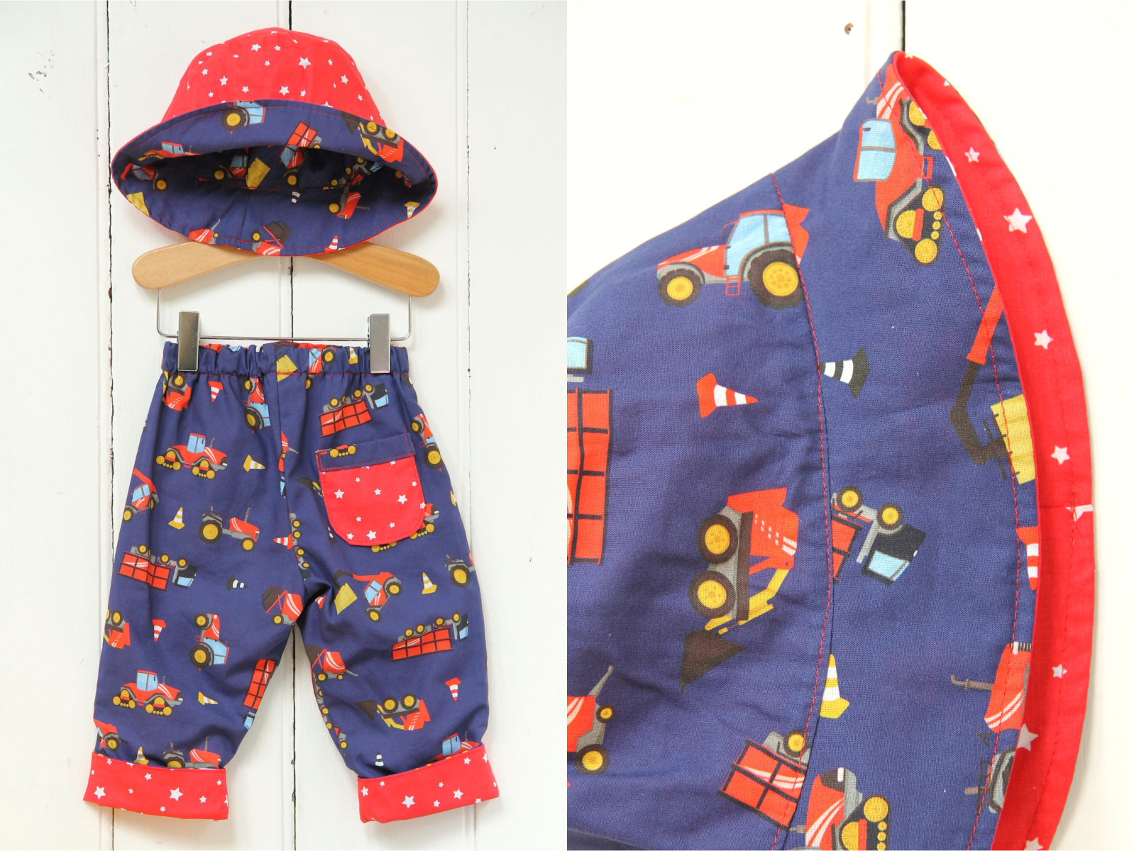Starry Trucks Hat - Hat - Bobbi Handmade Children's Clothes