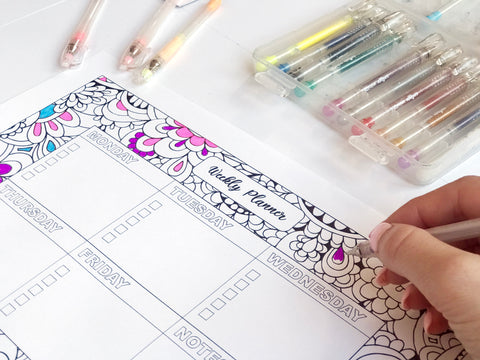 Printable Weekly Planner by Hayley Lauren Design