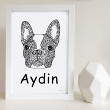 custom french bulldog art print