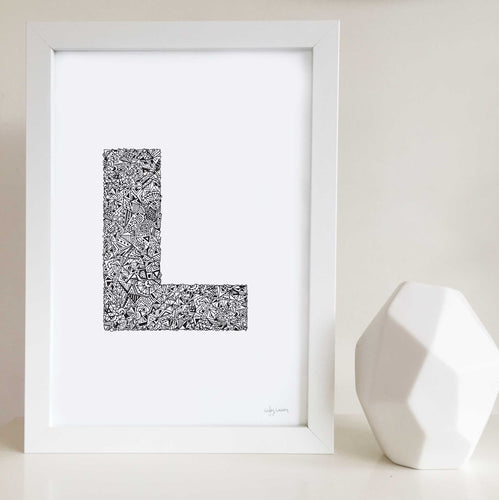 Letter l artwork for nursery or kids bedrooms