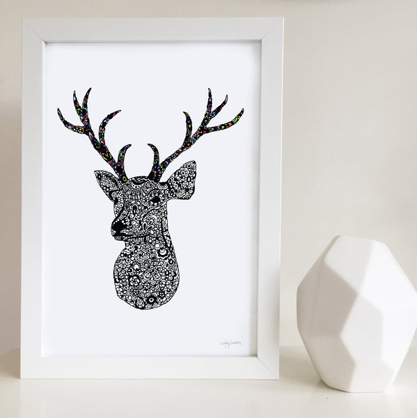 antler artwork for baby room or kids bedroom