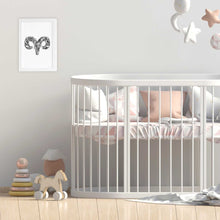 Aries artwork for nursery or kids bedroom made by Hayley Lauren design in Australia