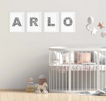 artwork for baby arlo - idea for nursery or kids bedroom by hayley lauren design free shipping australia wide