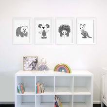 Australian animals nursery prints by Hayley Lauren Design
