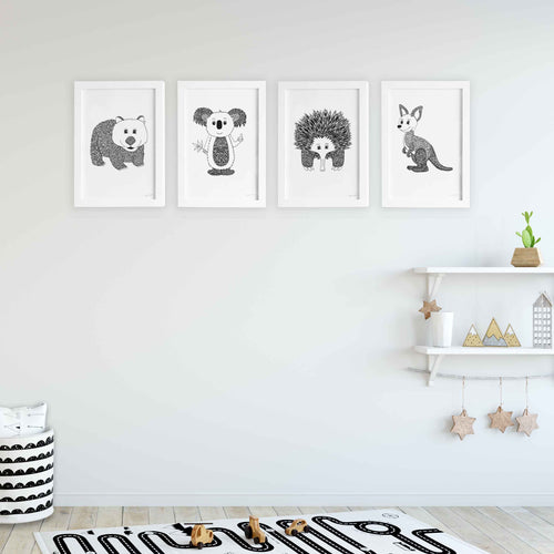idea for Australian animal themed nursery or kids bedroom