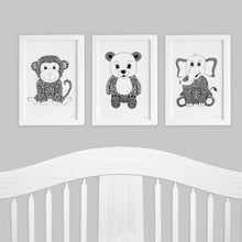 set of art prints for nursery or baby room