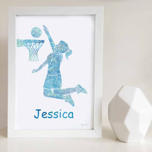 basketball girl artwork for girls bedroom