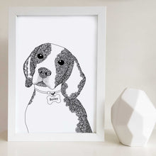 Beagle art drawing zentangle