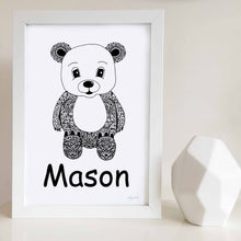 bear artwork for baby room or kids bedroom