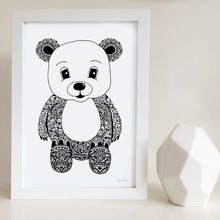 cute teddy bear artwork for nursery or kids bedroom