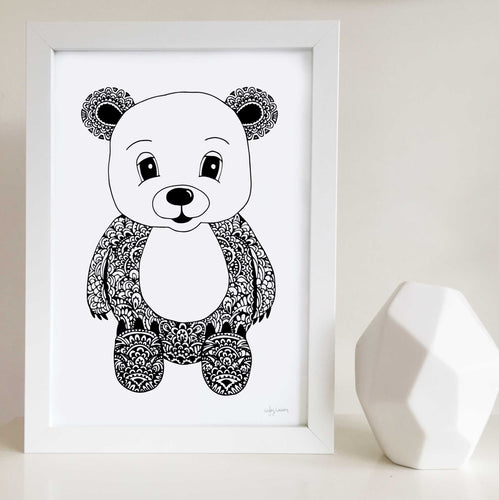 Barry the Bear Nursery or Bedroom Wall Art Print
