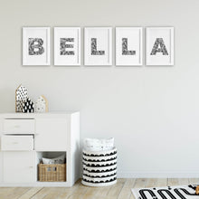 Floral Letter B Wall Art Print