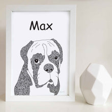Boxer dog illustration pattern design