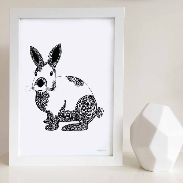 Bunny Print for baby room by Hayley Lauren Design