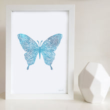 Butterfly water colour artwork by Hayley Lauren Design