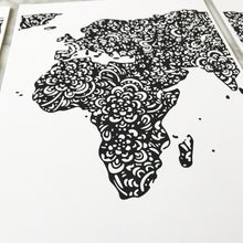world map triptych in black designed for the avid traveller free shipping australia wide. The perfect give to give someone that loves to travel designed by Hayley Lauren in Melbourne, Australia.