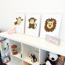 Jungle Nursery Art Prints by Hayley Lauren Design