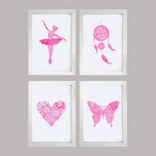 Girls bedroom wall art prints by Hayley Lauren Design