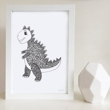 dinosaur art print for nursery or kids bedroom