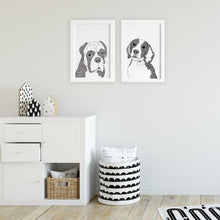 Dog illustrations for nursery room