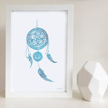 Dreamcatcher watercolour artwork by Hayley Lauren Design