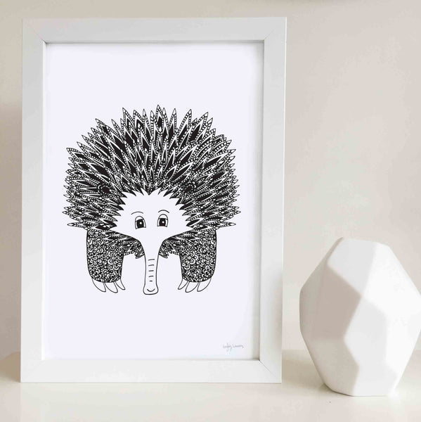 echidna nursery or kids bedroom wall art