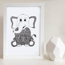 Elephant print for nursery by Hayley Lauren Design